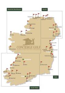 Destination Golf Links Ireland, Where to play golf in Ireland, Irish Golf vacations, Irish Golf Map